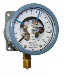 Манометр электроконтактный сигнализирующий ДМ2010СгУ2, V исполнение, 16kgf/cm2